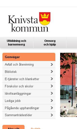 Mobile preview of knivsta.se