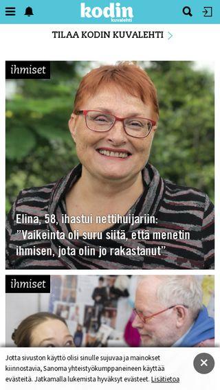 Mobile preview of kodinkuvalehti.fi