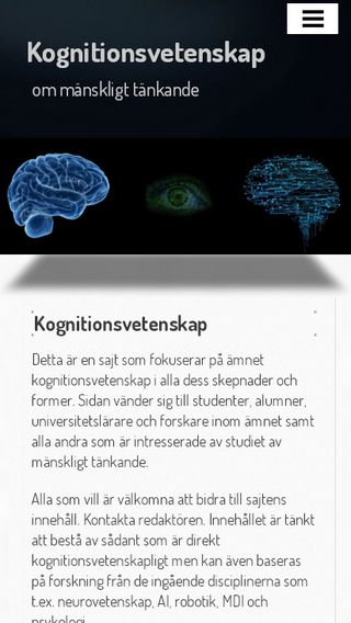 Mobile preview of kognitionsvetenskap.nu