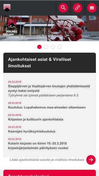 Mobile preview of kolari.fi