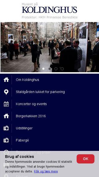 Mobile preview of koldinghus.dk