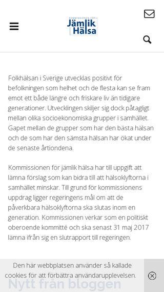 Mobile preview of kommissionjamlikhalsa.se