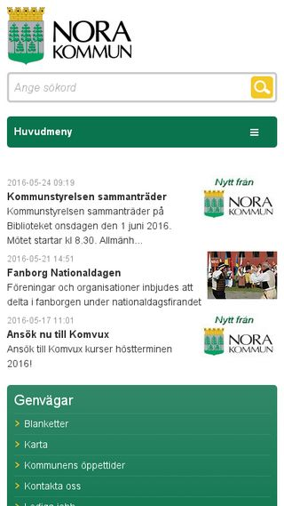 Mobile preview of kommun.nora.se