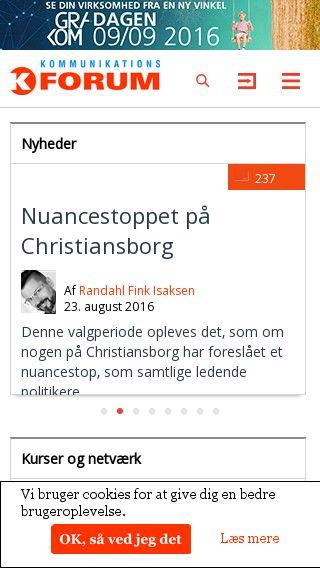 Mobile preview of kommunikationsforum.dk