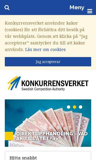 Mobile preview of konkurrensverket.se