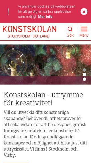Mobile preview of konstskolan.se