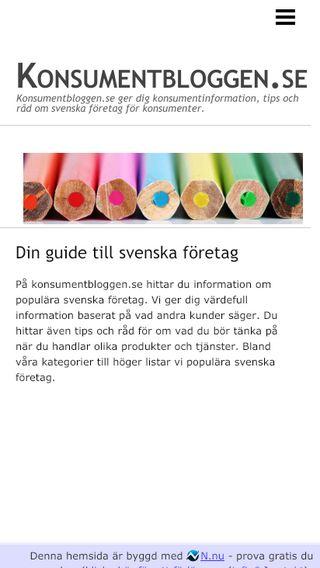 Mobile preview of konsumentbloggen.se