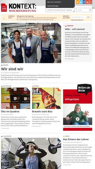 Mobile preview of kontextwochenzeitung.de