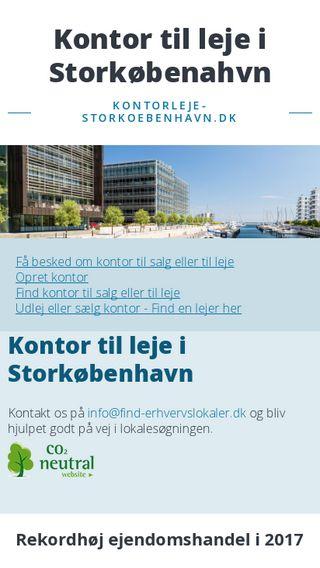 Mobile preview of kontorleje-storkoebenhavn.dk