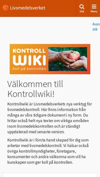 Mobile preview of kontrollwiki.livsmedelsverket.se