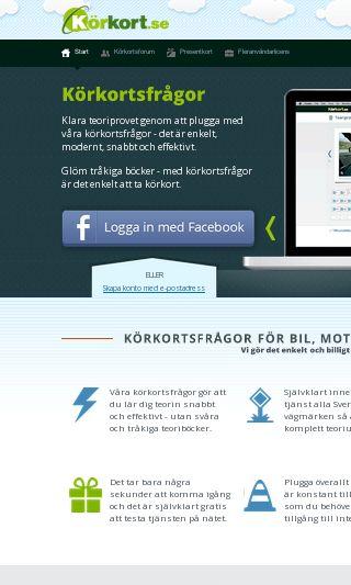 Mobile preview of korkort.se