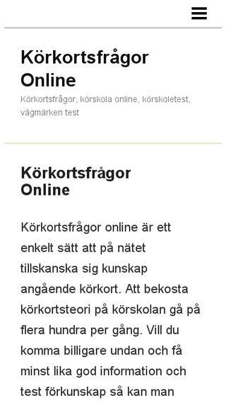 Mobile preview of korkortstestonline.n.nu