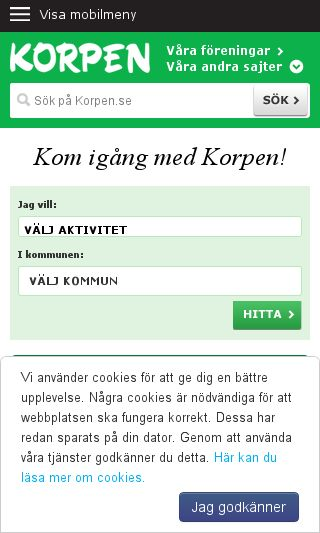 Mobile preview of korpen.se