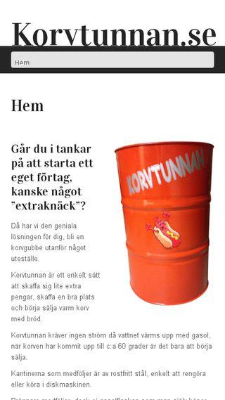 Mobile preview of korvtunnan.se