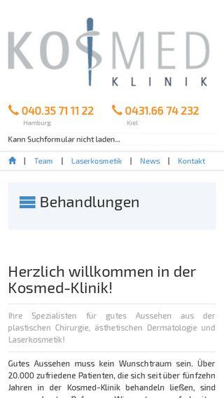 Mobile preview of kosmed-klinik.de