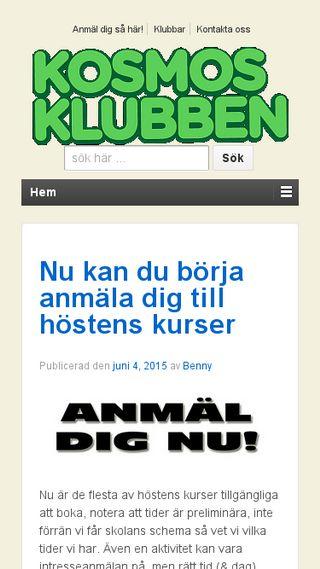 Mobile preview of kosmosklubben.se