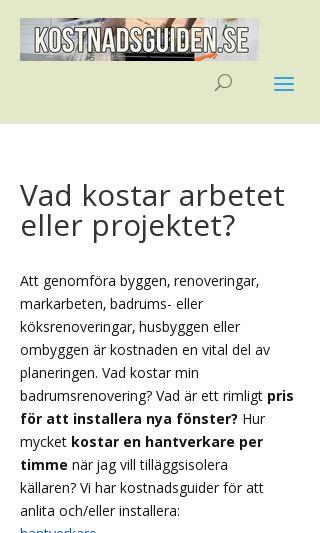 Mobile preview of kostnadsguiden.se
