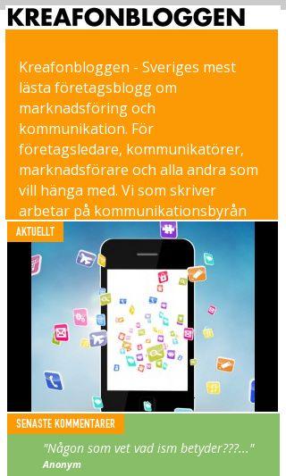 Mobile preview of kreafonbloggen.se