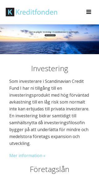 Mobile preview of kreditfonden.se