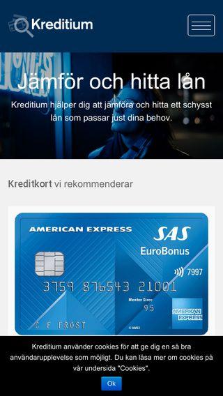 Mobile preview of kreditium.se