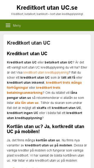 Mobile preview of kreditkortutanuc.se