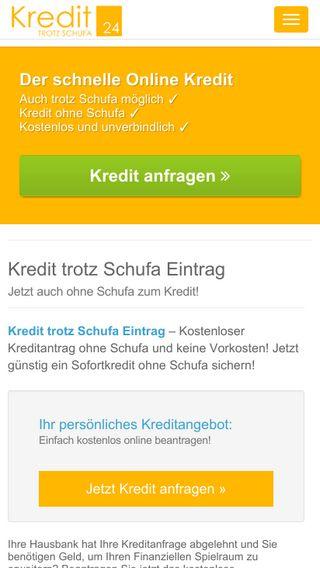 Mobile preview of kredittrotzschufa24.de