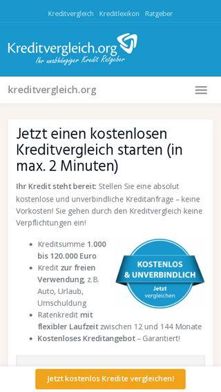Mobile preview of kreditvergleich.org