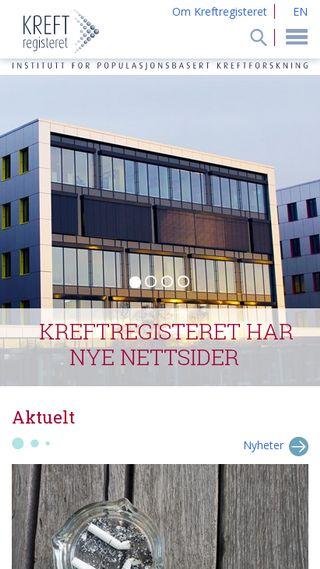 Mobile preview of kreftregisteret.no