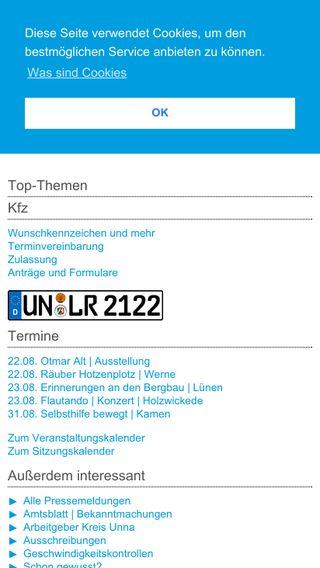Mobile preview of kreis-unna.de