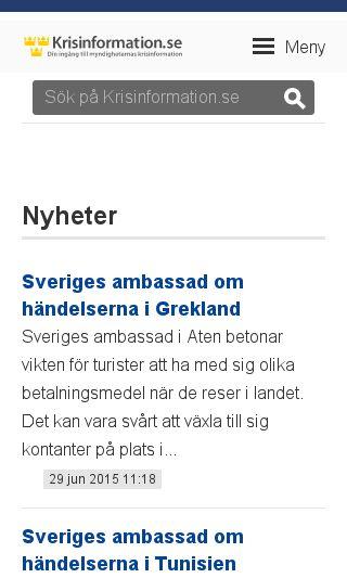 Mobile preview of krisinformation.se