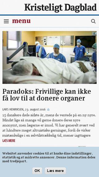 Mobile preview of kristeligt-dagblad.dk
