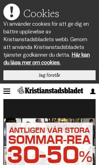 Mobile preview of kristianstadsbladet.se