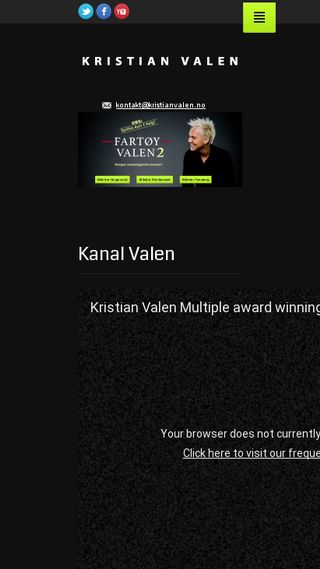 Mobile preview of kristianvalen.no
