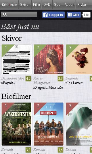 Mobile preview of kritiker.se