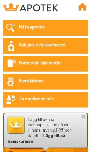 Mobile preview of kronansapotek.se
