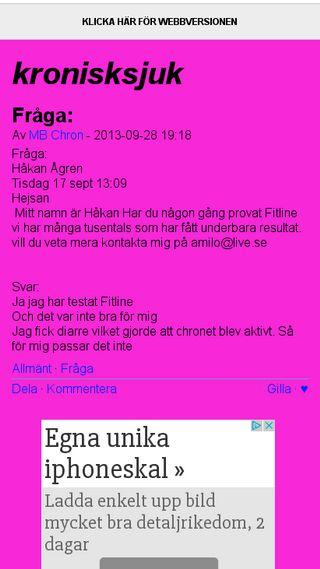 Mobile preview of kronisksjuk.bloggplatsen.se