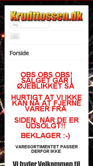 Mobile preview of krudttossen.dk