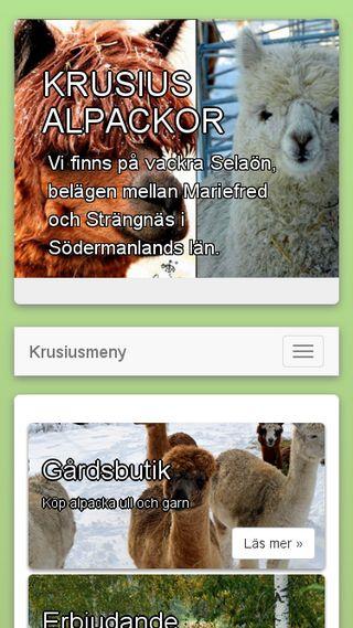 Mobile preview of krusiusalpackor.se