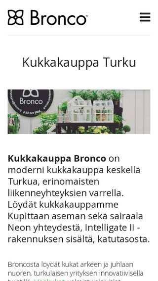 Mobile preview of kukkakauppabronco.fi