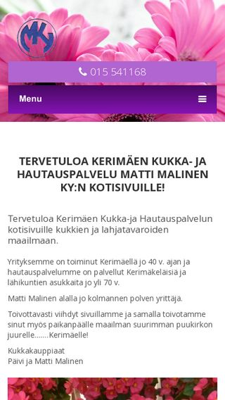 Mobile preview of kukkamalinen.fi