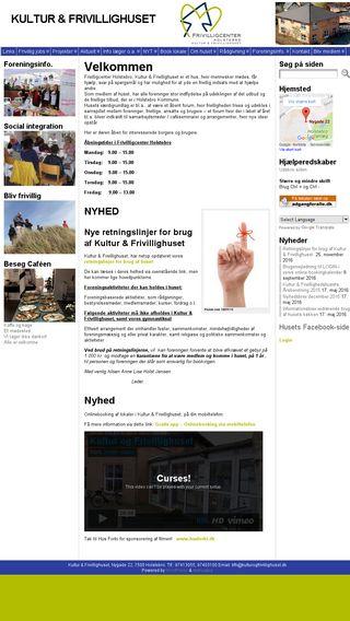 Mobile preview of kulturogfrivillighuset.dk