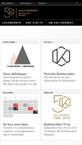 Mobile preview of kulturradet.no