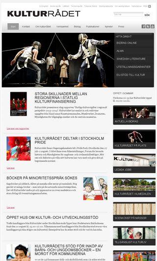 Mobile preview of kulturradet.se
