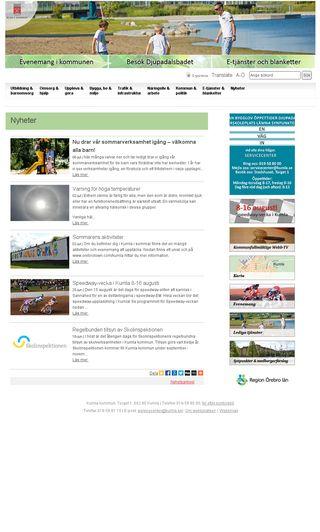 Mobile preview of kumla.se