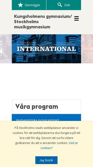 Mobile preview of kungsholmensgymnasium.stockholm.se