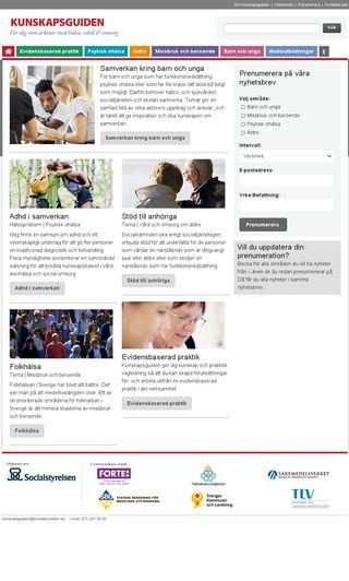 Mobile preview of kunskapsguiden.se