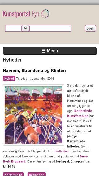 Mobile preview of kunstportalfyn.dk