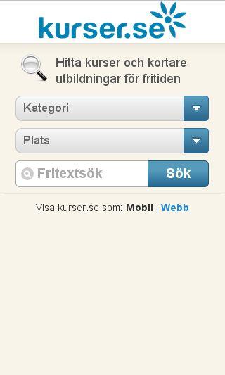 Mobile preview of kurser.se