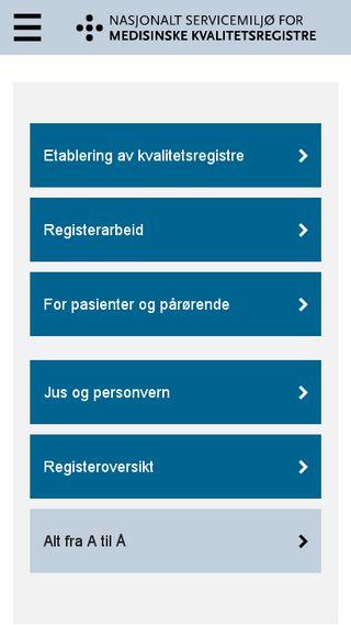 Mobile preview of kvalitetsregistre.no