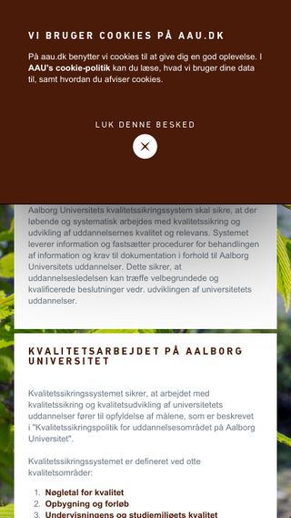 Mobile preview of kvalitetssikring.aau.dk